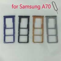 Suporte da bandeja do cartão sim para samsung galaxy a70 a705 a705f a705fn a705w a705fd a705gm telefone original nano micro adaptador de slot para cartão sd