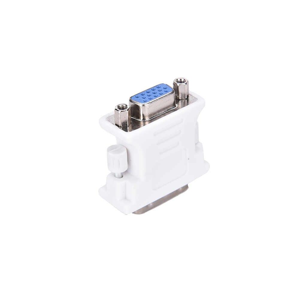 1 adet DVI D erkek VGA dişi soket adaptörü dönüştürücü VGA DVI/24 + 1 Pin erkek VGA dişi adaptör dönüştürücü