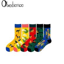 Designer Colorfull Cotton Unisex Crew Socks Funny Harajuku Cute Novelty Cartoon sloth socks Christmas Skateboard