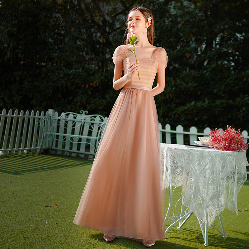 Light Brown Burgundy Bridesmaid Dress Junior Elegant Dress Women For Wedding Party Vintage Wedding Guest Dress Sexy Prom Vestido
