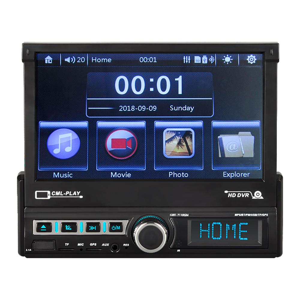 Image 5 - 7 Inch Car Navigation Motorized Pop Up Pull Back Touch Screen Car Navigation MP5 Player FM Radio Mp3 Player 7110GM-in Vehicle GPS from Automobiles & Motorcycles