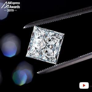 Image 5 - 12*12 ミリメートルプリンセスカットダイヤモンドリングS925 スターリングシルバー罰金結婚式のシトリンサファイアアメジストルビー色のダイヤモンド