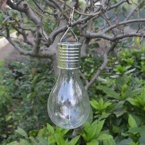 1.2V Solar Panels LED Waterproof Solar Light Bulb Rotatable Outdoor Garden Lamp Camping Hanging Stars Light Lamp Bulb Decoration