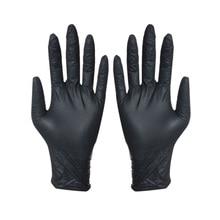 100 шт Одноразовые черные перчатки для домашней уборки, моющие перчатки, нитриловые лабораторные перчатки для дизайна ногтей, медицинские антистатические перчатки