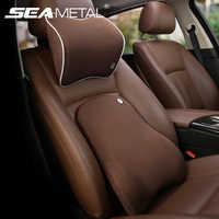 Accesorios asiento de coche cabeza descanso del cuello Auto suave masaje almohada memoria espacial cuello reposacabezas coche cubierta vehículo almohada asiento reposacabezas