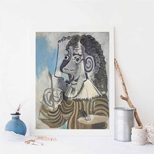 The Painter By Picasso Wall Art Canvas Posters Prints Painting Oil Wall Pictures For Modern Living Room Home Decor Artwork HD pop art alec monopoly hd canvas painting print living room home decoration modern wall art oil painting posters pictures artwork