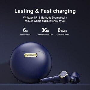 Image 4 - WHIZZER سماعة رأس لاسلكية TWS مزودة بتقنية Bluetooth 5.0 وميكروفون ، وسماعة رأس صغيرة مزدوجة ، وستيريو ، وtp1s