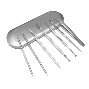 Professional Blackhead Remover Tools, Blemish and Splinter Acne Pimple Removal, Set of 7 Stainless Steel Acne Needles
