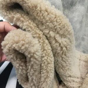 Image 4 - Prawdziwe futro z owczej skóry latający płaszcz oryginalna kurtka z owczą wełną mężczyzna zimowa kurtka lotnicza brązowy mężczyzna futrzany płaszcz bardzo duża wielkość