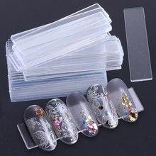 1Set punte per unghie finte Nail Art Display Stand trasparente pratica acrilico Gel Polish Holder Strip Manicure mostra strumenti JI151-1