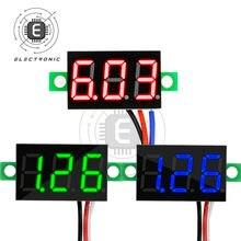 Lcd display digital 0.36 Polegada voltímetro de 3 fios 0.00v-30.0v 5.00v-30.0v-v testador de ferramenta de medição de tensão
