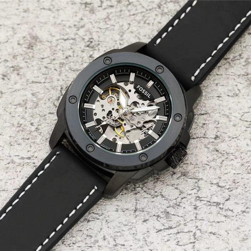 Kopalnych automatyczny zegarek mężczyzn zegarek z skórzane męskie zegarki top marka luksusowe montre homme 2019