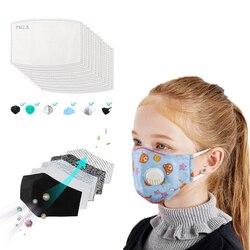 Maska do ust dzieci PM2.5 maski dla dzieci z zaworek wydechowy filtr z węglem aktywnym papier oddychająca maska ochronna dla dzieci Pad