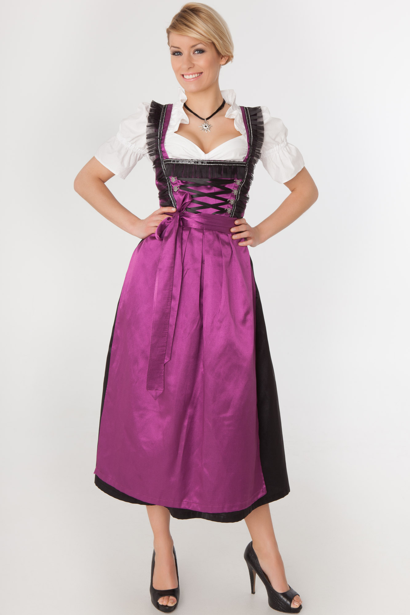 Summer Women's 2 Pieces Dirndl Dress Maid Outfit Oktoberfest Fancy Dress Carnival Bavarian Cosplay Sexy Long