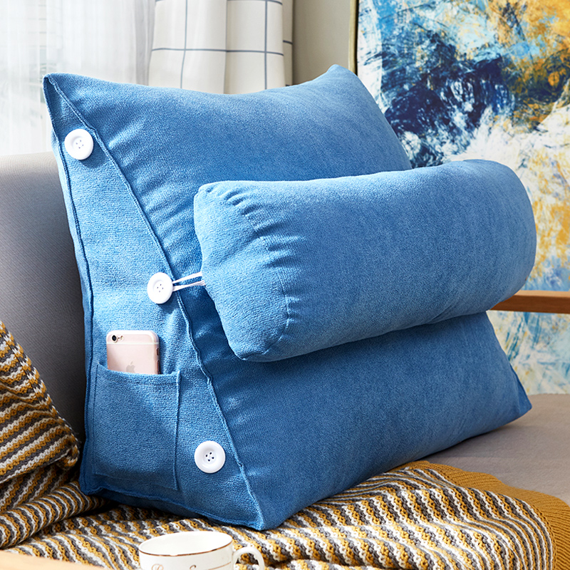 Cuscini Divano.Nordic Household Triangle Sofa Cushion Korea Velvet Head Pillow