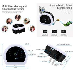 Image 5 - 1080P HD Mini kamera bezprzewodowa bezpieczeństwo w domu noc lekka ładowarka Wifi kamera IP noktowizor DV nagrywarka dvd ukryta karta