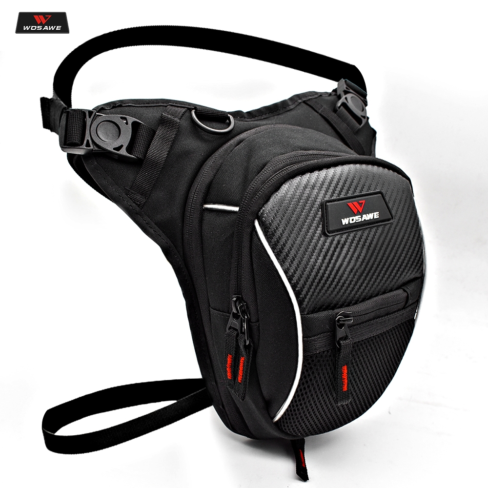 WOSAWE Motorcycle Fanny Pack Racing Leg Bag Riñonera Moto Cycling Tactical Waist Pack Airsoft Tactical Drop Leg Panel Utility
