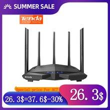 Tenda kablosuz wifi yönlendiriciler AC7 2.4Ghz/5.0Ghz Wi fi tekrarlayıcı 1 * WAN + 3 * LAN portları 5 * 6dbi yüksek kazanç antenler akıllı APP yönetmek