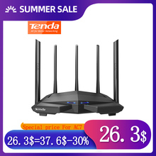 Tenda 무선 wifi 라우터 AC7 2.4Ghz/5.0Ghz Wi fi 리피터 1 * WAN + 3 * LAN 포트 5 * 6dbi 고 이득 안테나 스마트 APP 관리