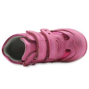 Image 5 - Primavera outono meninas sapatos nova criança de couro do plutônio crianças tênis com zip anti deslizamento sapatos para meninas eur 21 26