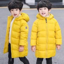 Boys Winter Jackets for Girls Kids Warm Down Parka For Girls Hooded Coats Kids Thick Outdoor Outwear Snowsuit Children's Clothes цена в Москве и Питере