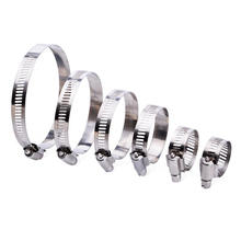 цена на Free shipping 6-50mm Stainless Steel Adjustable Drive Hose Clamp Fuel Line Worm Size Clip Hoop Hose Clamp Hot Sale