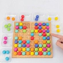 Grânulos coloridos eliminar alegria pai-criança concentração treinamento de madeira crianças jogo de tabuleiro meninos e meninas brinquedos educativos