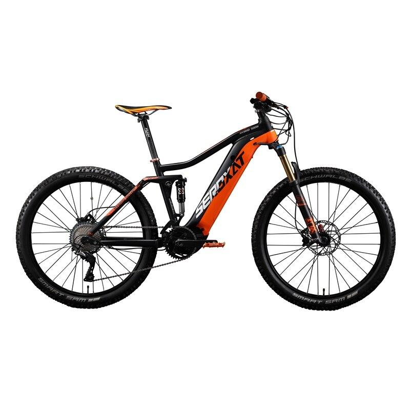 2019 E BIKE 29ER motor bike frmae suspension frame aluminium alloy cross country electric frames shock bicycle downhill frame - 3