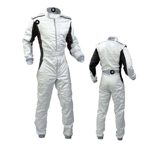 Image 2 - Personality bright color car kart racing suit and white light spot drift racing car cloth bike racers jackets