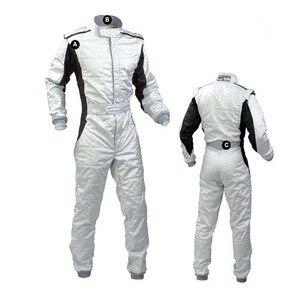 Image 2 - Persoonlijkheid heldere kleur auto kart racing pak en wit licht spot drift racing auto doek bike racers jassen