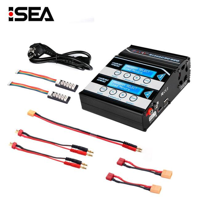 HTRC H120 10A Battery Charger AC DC Dual Ports Discharger For Lilon/LiPo/LiFe/LiHV/NiCd/NiMH/PB Battery RC Balance Charger