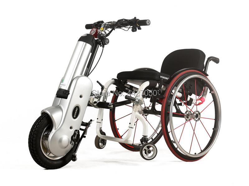 Handbike Electric Booster Electric Motor For Hand Push / Sports Wheelchair Trailer Head Electric Handcycle