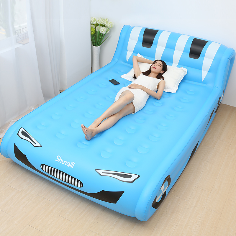 Cool Inflatable Bed Sofa Bedroom Furniture Lazy Bed Muebles Soft Eco-friendly Folding Portable Beds For Adults Kids Sofas