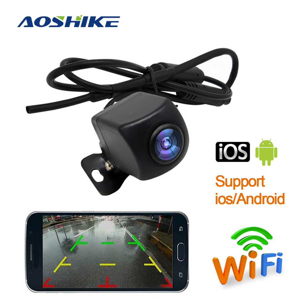 AOSHIKE Wireless Car Rear View Camera WIFI Reversing Camera Dash Cam HD 720P Night Vision For IPhone And Android 2020 Newest
