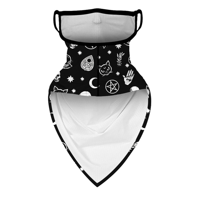 Outdoor Riding Triangle Scarf Sunscreen Breathable Mask Magic Turban Digital Printing Men And Women Models Women's Men's Hood 1