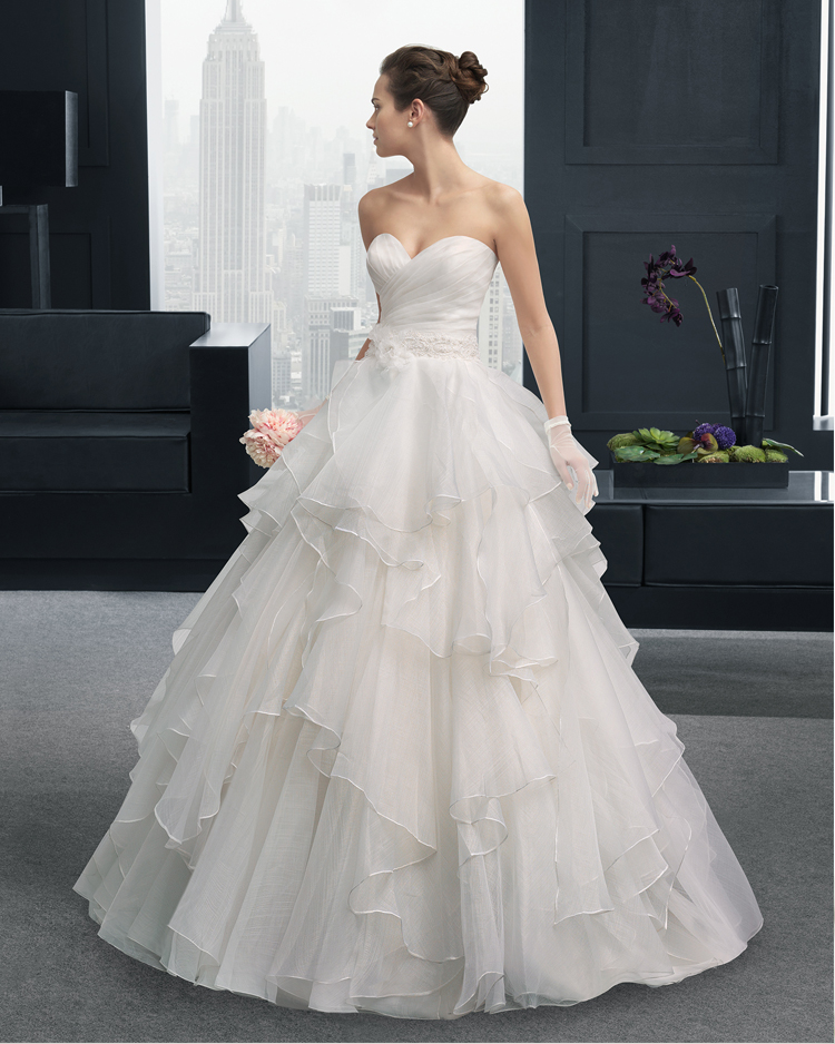 Organza Ruffles Sweetheart Long Wedding Dress 2015 New Hot Sexy A-line Button Vestido De Noiva Casamento Appliques Flowers