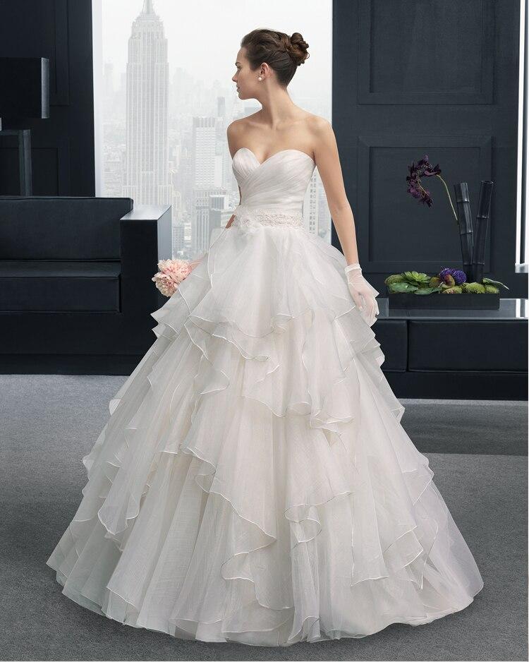 Organza Ruffles Sweetheart Long Wedding Dress 2015 New Hot Sexy A-line Button Vestido De Noiva Casamento Appliques Flowers