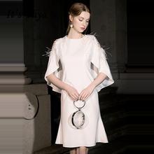 Женское коктейльное платье it's yiiya белое элегантное с