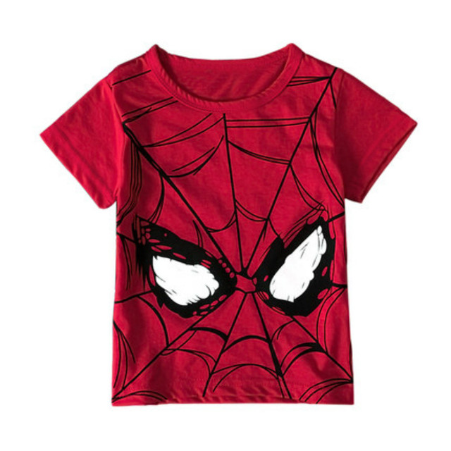 2pcs Kids Boys Spider-Man Cotton short sleeve+Shorts Children CasualSports  Suit
