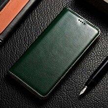 المغناطيس الطبيعي جلد طبيعي الجلد محفظة قلابة كتاب غطاء إطار هاتف محمول على ل Realmi Realme C3 6 برو Realme6 6Pro C 3 64/128 جيجابايت
