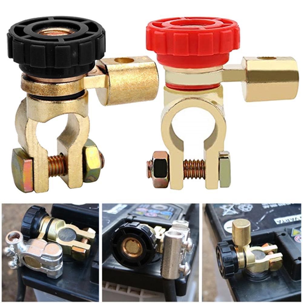 Interruptor de aislador de bater/ía de 12 V 24 V interruptor de desconexi/ón de la bater/ía del coche piezas de coche el/éctrico interruptor de apagado r/ápido interruptor de conexi/ón de terminal