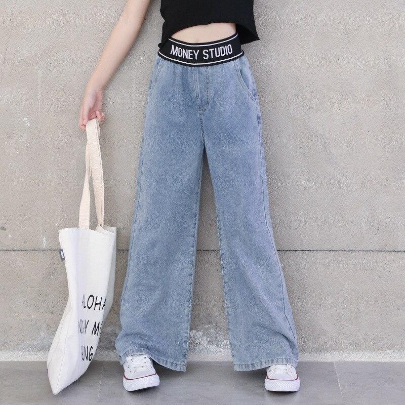 Pantalones Vaqueros Para Ninas Adolescentes Pantalon Ancho Azul Holgado Para Primavera Y Verano 6 8 10 12 Anos 2020 Pantalones Vaqueros Aliexpress