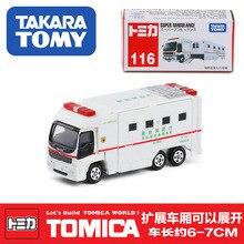 Такара Томи нет 116 мобильного пожарно-спасательного автомобиля сплава модель литья под давлением металла автомобиль модели игрушка автомобиль
