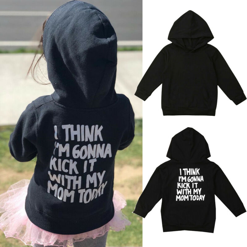 USA Kids Baby Boy Girl Autumn Clothes Hoodies Hooded Tops Sweatshirt Coat Jacket