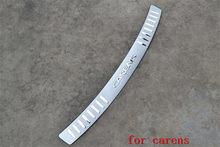 Protetor traseiro de aço inoxidável, placa de peça, acessórios para kia carens 2007 2008 2009 2010 2011 2012 2013 2014
