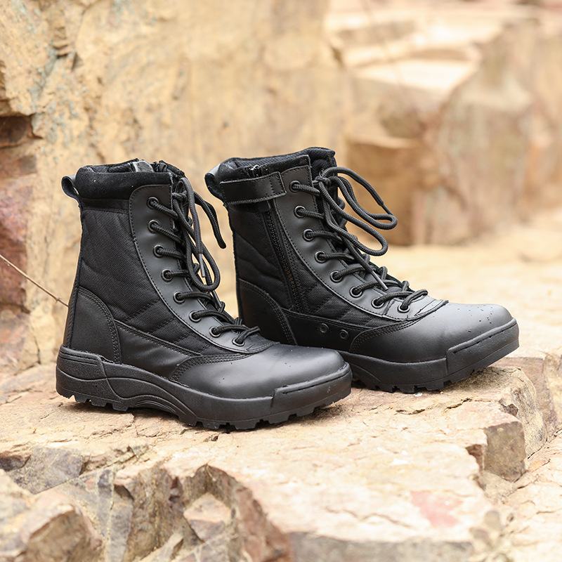 Extra-value Hot Selling Ultra-Light For Combat Boots CQB. Swat For Combat Boots SWAT Tactical Boots Canvas Breathable CS Hight-t