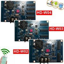 HD-W02 HD-W03, HD-W04, Wi-Fi, светодиодная карта управления, беспроводной P10, светодиодный контроллер, поддержка телефона, приложение для Android, система pad, отправка сообщения