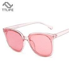 TTLIFE New Classic Oval Sunglasses Women Vintage Luxury Plastic Brand Designer Fashion Eyewear  Female Cat Eye Sun glasses UV400
