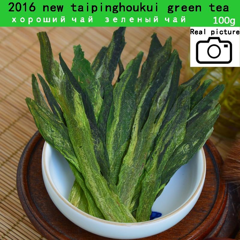 [muchitea]2017 Good Tea 100g Top Grade Chinese Green Tea Taiping Houkui New Fresh Organic  Naturally Matcha Health Care Hot