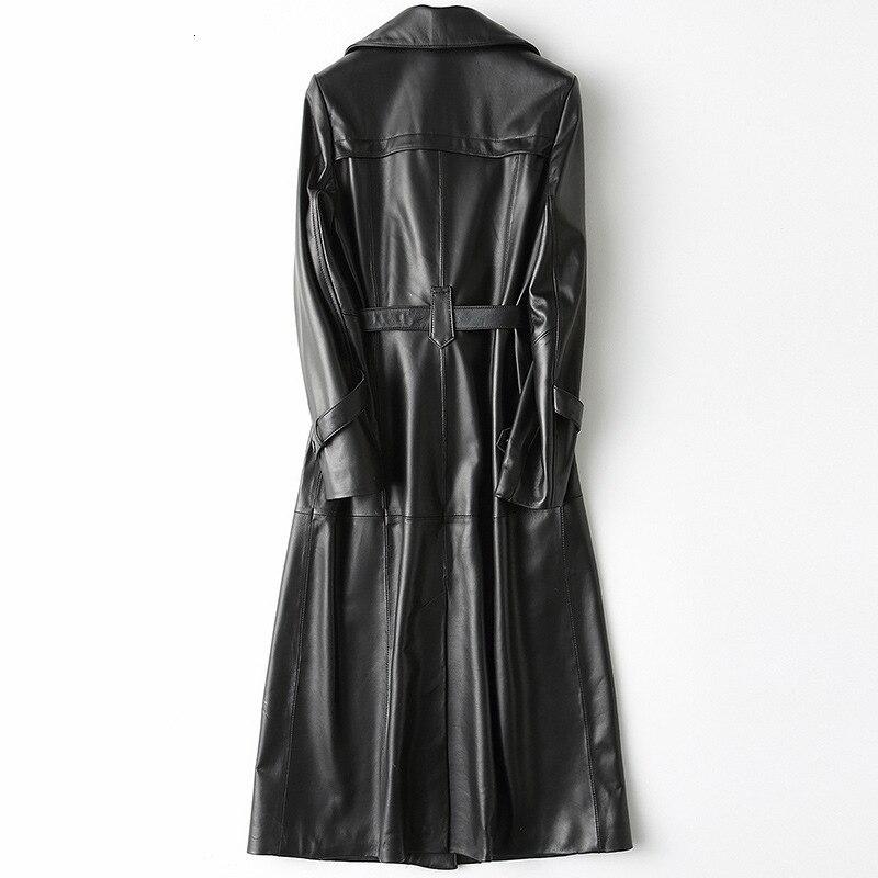Brand 100% Leather Long Sleeve Jacket Women's Track Sheepskin Windscreen Cup Women's Elegant Black Autumn Sportswear